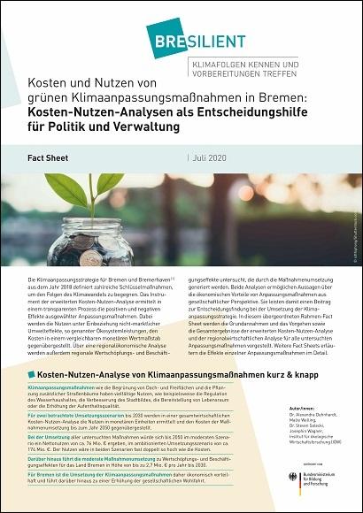 """Ansicht des Fact Sheets """"Kosten-Nutzen-Analyse als Entscheidungshilfe"""""""