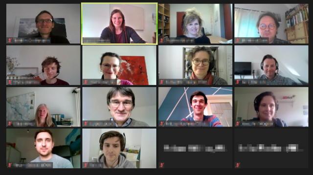 Videokonferenz mit Projektpartnern im BREsilient-Projekt
